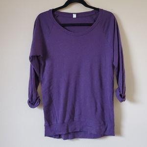 TNA (aritzia) purple long sleeper top size XS